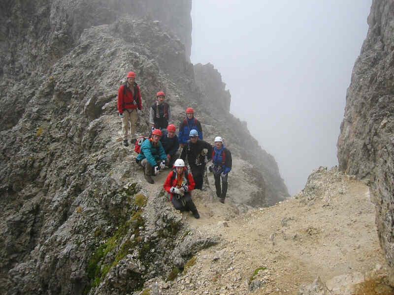 Klettersteig Plattkofel : Oscar schuster
